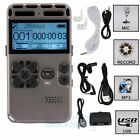 64GB Digital MP3 Player Audio Voice Recorder Rechargeable Dictaphone Telephone