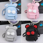 Cute Women Leather Mini Backpack Jointly Bag Travel School Rucksack Bow-knot US