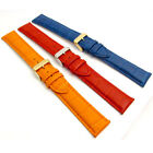 XXL Coloured Padded Croc Grain Leather Watch Strap 18mm - 24mm 3 Colors C005