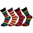 Mens Boys Thin Striped Mid Calf Ankle Crew Short Stripey Socks New Lot
