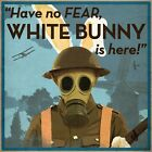 WW1+Propaganda+Poster+-+Have+No+Fear%2C+White+Bunny+is+Here%2C+Military+Prints
