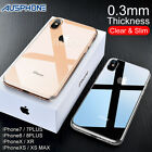 iPhone X XS Max XR 8 7 Shockproof Slim Crystal Clear  Hard Case Cover For Apple