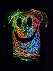 "Schwarzlicht T-Shirt Neon ""GRIN UNISEX BLACK"" Party Festival"