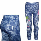 Design Kinder Mädchen Leggings Stretch Hose Jeans Look Leggins Treggins 110-152