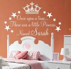 princess quotes for girls - wall art sticker quote for girls rooms Personalised Once upon a time Princess