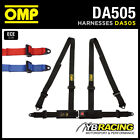 DA505 OMP 'ROAD 4' HARNESS ROAD CAR BELTS 4-POINT BOLT-IN - RED / BLACK / BLUE