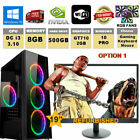 "I3 GAMING COMPUTER PC BUNDLE Win 10 4GB/8GB 500GB/1TB NVIDIA OPTION 22"" SCREEN"