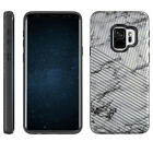 For [Samsung Galaxy S9], Hybrid Dual Layer Slim Textured Embossed Stripe Case