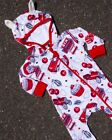 Six Bunnies Cherry Garage Zippy Playsuit Baby One Piece Romper Rockabilly Gift