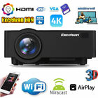 Kyпить Wireless 4K 1080P WiFi Android 6.0 BT 3D LED Projector 1+ 8GB / Projector Screen на еВаy.соm