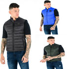 Mens TOV Quilted Sleeveless Bodywarmer Down Feather Puffer Bomber Gilet Jacket