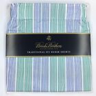 Brooks Brothers Traditional Fit Boxer Shorts Underwear 1818 Green Blue Stripe