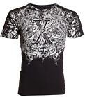 XTREME COUTURE by AFFLICTION Mens T-Shirt AUTUMN Vertebrae Biker MMA $40 image