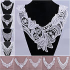 NEW 1~5pcs Elegant Embroidery Neckline Flowers Lace Collar Trim Sewing Fabric
