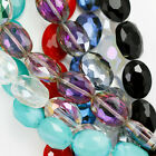 Faceted Flat Oval Cut Glass Crystal Beads for Jewellery Making 12mm 16mm 20mm
