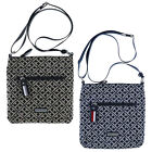 Tommy Hilfiger Crossbody Purse Shoulder Bag Xbody Jacquard Zip Close Casual New