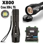 G700 X800 Zoomable XML T6 LED 5 Mode Flashlight Torch+18650 Battery+Charger+Case