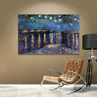 Starry Night Over the Rhone' Gallery wrapped Canvas Art Print