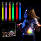 Glo Sticks Pairs Glow In Dark Party Festival Rainbow Light Up Concert Kids Hen