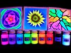 UV Paint Set Art n Craft Gift Pack Fluorescent Ultraviolet Blacklight Neon Glow