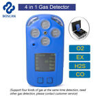 Portable 4 in 1 LCD Gas Detector H2S O2 CO EX Toxic Gas Leak Monitoring Tester