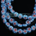 50pcs 6mm 8mm Millefiori Lampwork Glass Round Charms Loose Spacer Beads Findings
