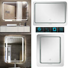 lighted mirror wall - 110V Super Bright LED Lighted Bathroom Wall Mirror Vanity Antifog Floating Glass
