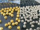 200~1000pcs 4mm Round Gold/Silver Plated Spacer Findings Loose Meter Beads
