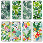 Various Plants Leaves Soft Case Cover For iphone 5S 5C SE 6 7 7Plus 8 Plus X