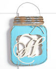Indoor Outdoor Country Inspired Mason Jar WELCOME or MONOGRAM Wall Door Hanger