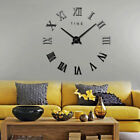 Creative Quiet 3D DIY Wall Clock Stainless Steel Wall Stickers Home Decor