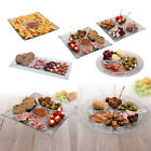 Large Glass Serving Plate Snack Tray Dish Platter Dipping Bowl Tapas Meat Sushi