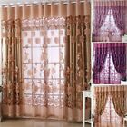 Voluptuary Jacquard Curtains Burnout Tulle for Window Living Room Bedroom Door