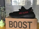 New Adidas Yeezy Boost 350 V2 SPLY Black Red Kanye West Shoes NWT Mens Sz 8.5-11