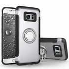 For Samsung Galaxy S7 Case Slim Ring Stand Shockproof Armor Cover Tempered Glass