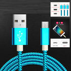 Braided  Lightning/Micro USB/Type-C Charge Cable Data Sync For iphone Samsung LG