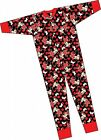 Minnie Mouse black red One Piece Sleep Suit Nightwear cotton Pyj 4 years to 10