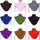 Women New Islamic Hijab Muslim Mock Solid Detachable Cover Turtleneck Collar