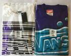 (2) Genuine VANS White Bar Code & Purple Soap Short Sleeve T Shirt Lot $44 XL