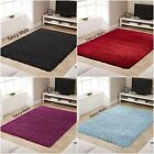 ANTI-SKID THICK PLAIN SOFT SHAGGY RUG NON SHED PILE MODERN RUGS CARPET LARGE