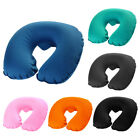 U Shaped Neck Pillow Inflatable Cushion for Travel with Airplane, Train, Car image