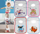 Baby Boys Girls Bibs Pop Over Head Terry Bib
