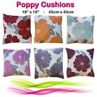 """LUXURY Soft Polyester Chenille Floral Printed Cushion Covers 45 18"""" Zipped Cover"""