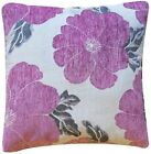 """Soft LUXURY Polyester Chenille Floral Printed Cushion Covers 18"""" Zipped Cover ."""