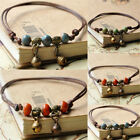 Retro Women Charm Anklet Ankle Bracelet Ceramic Beads Weave Rope Foot Chain TR