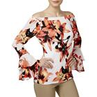 INC Womens Floral Print Ruffled Off-The-Shoulder Casual Top Shirt BHFO 3788 <br/> Guaranteed Authentic  INC Casual Top MSRP:  $64.50