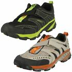Boys Merrell Casual Hook & Loop Leather & Textile Trainers Litespeed Z-Rap Kids
