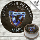 HARRY POTTER - RAVENCLAW EDIBLE BIRTHDAY CAKE TOPPER DECORATION PERSONALISED