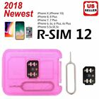 RSIM 12+ New 2018 R-SIM Nano Unlock Card fits iPhone X/8/7/6/6s/5S/ 4G iOS 10 11