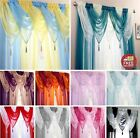 "Ready Made Single Plain Voile Swags With Tassle 22""x18"" Decorative Net Curtain"